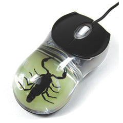 CM02<br />Black Scorpion Mouse (glow in the dark)