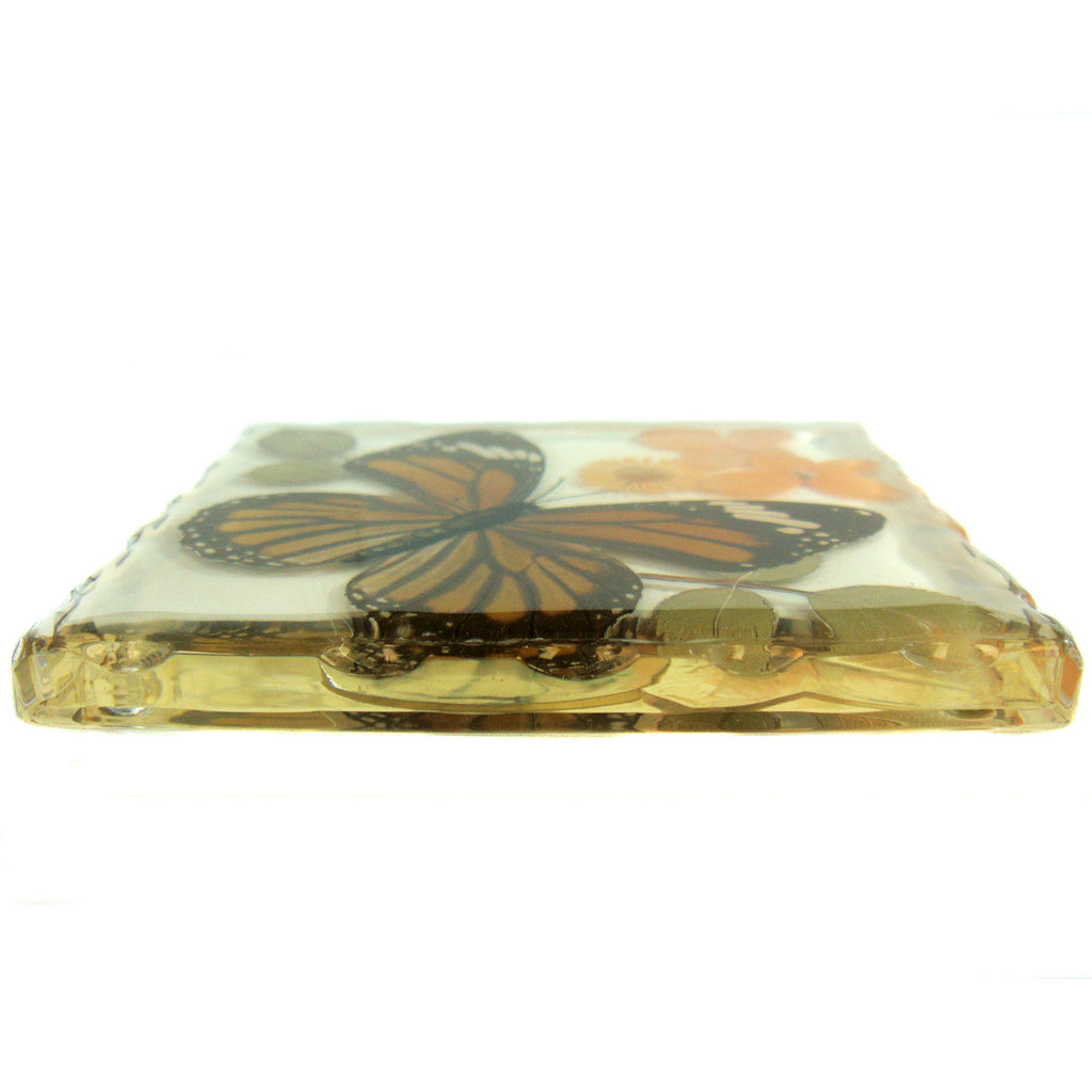 CT5022<br/>Common Tiger Butterfly, Flowers & Leaves Coaster
