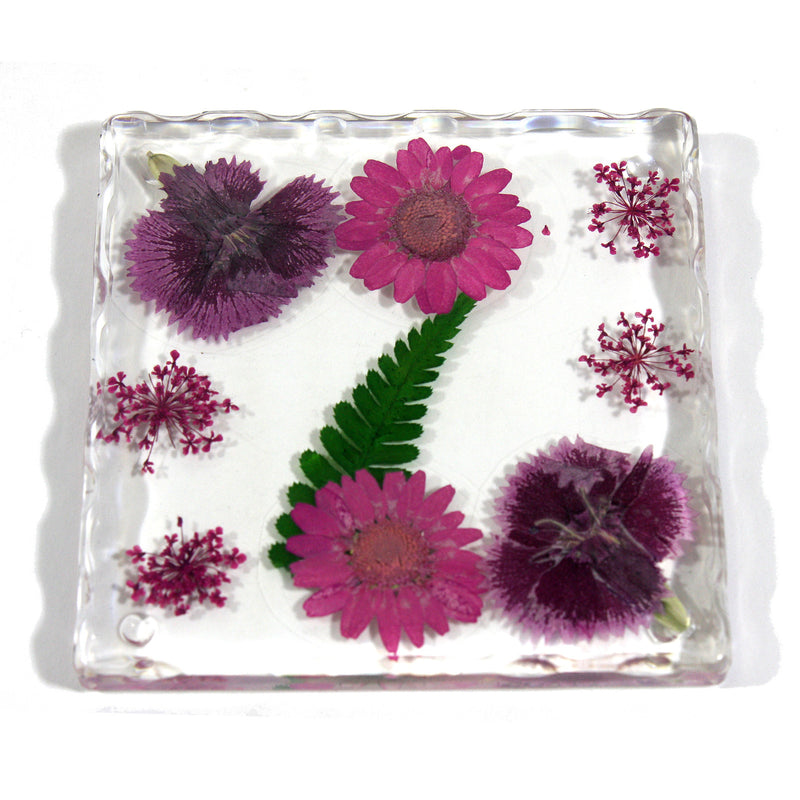 CT5032<br/>Burgundy Flower Coaster