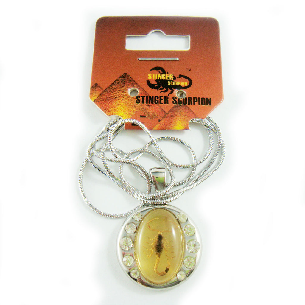 Golden Scorpion Necklace Amber (DJ193)