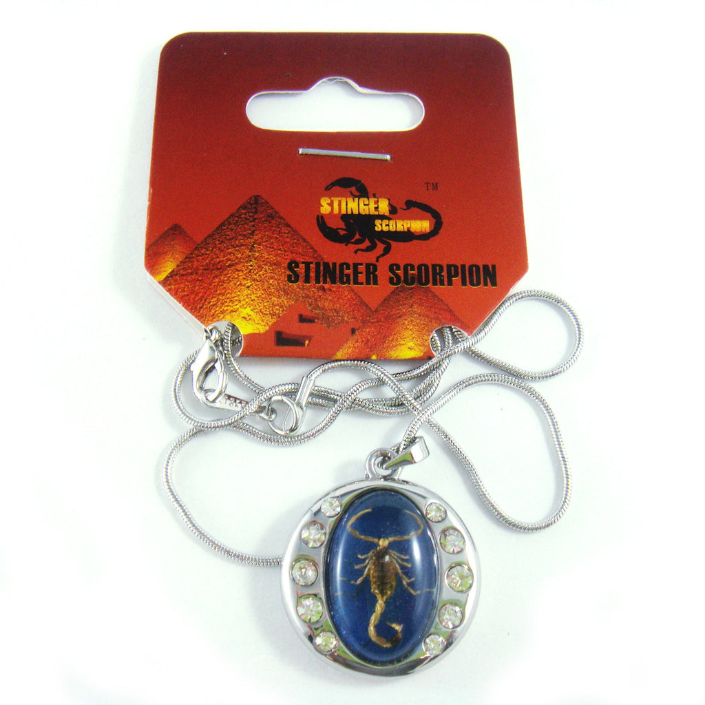Golden Scorpion Necklace Blue (DJ194)