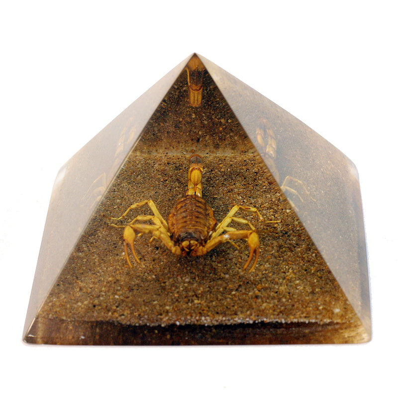 DS902<br/> Pyramid, Gold Scorpion, Sand Base