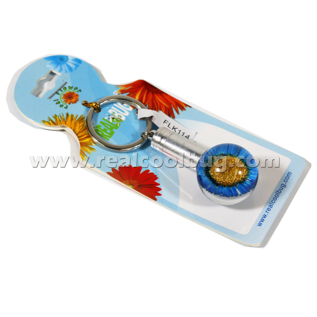 FLK114<br/>LED Key Chain - Blue Daisy