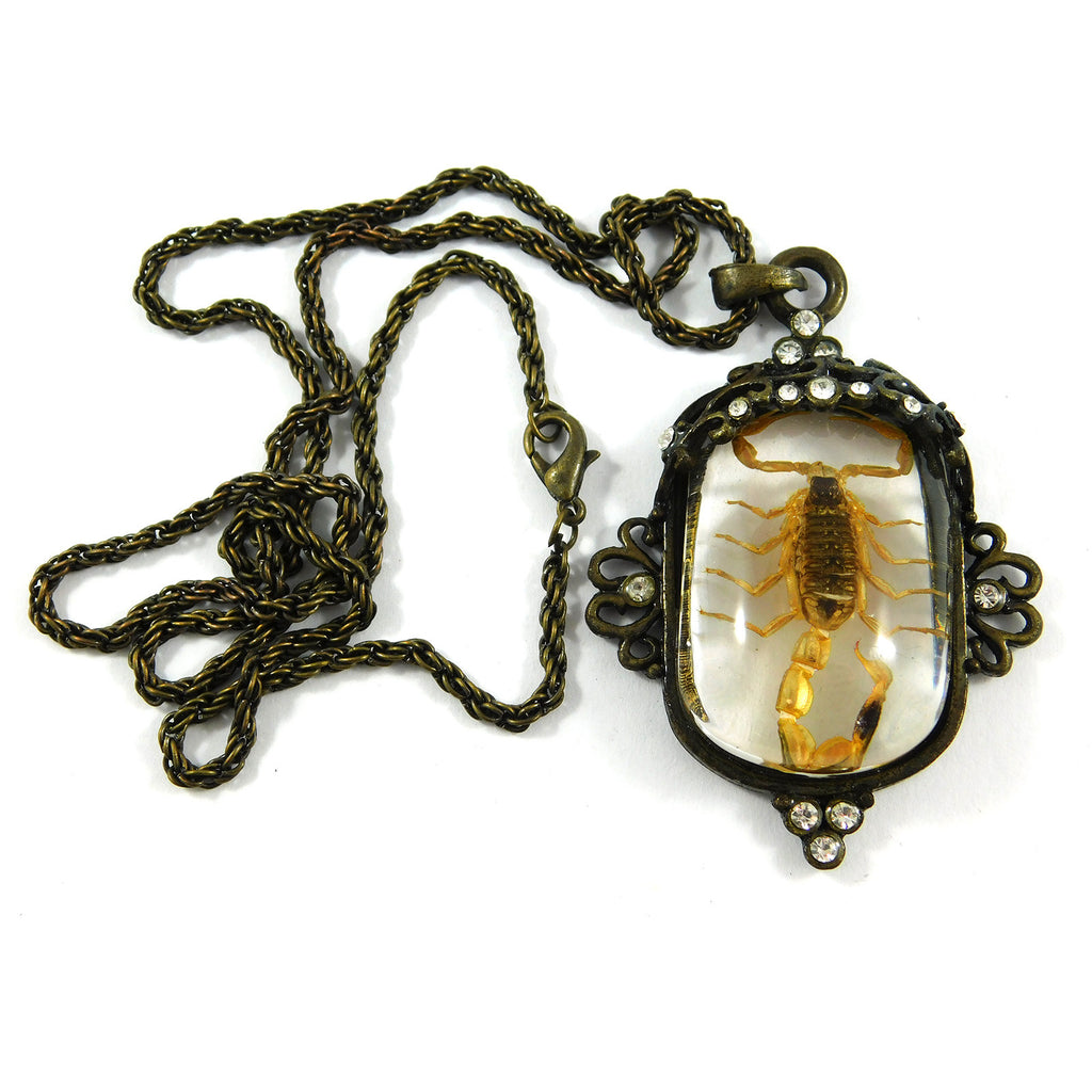 Golden Scorpion Necklace (JD104)
