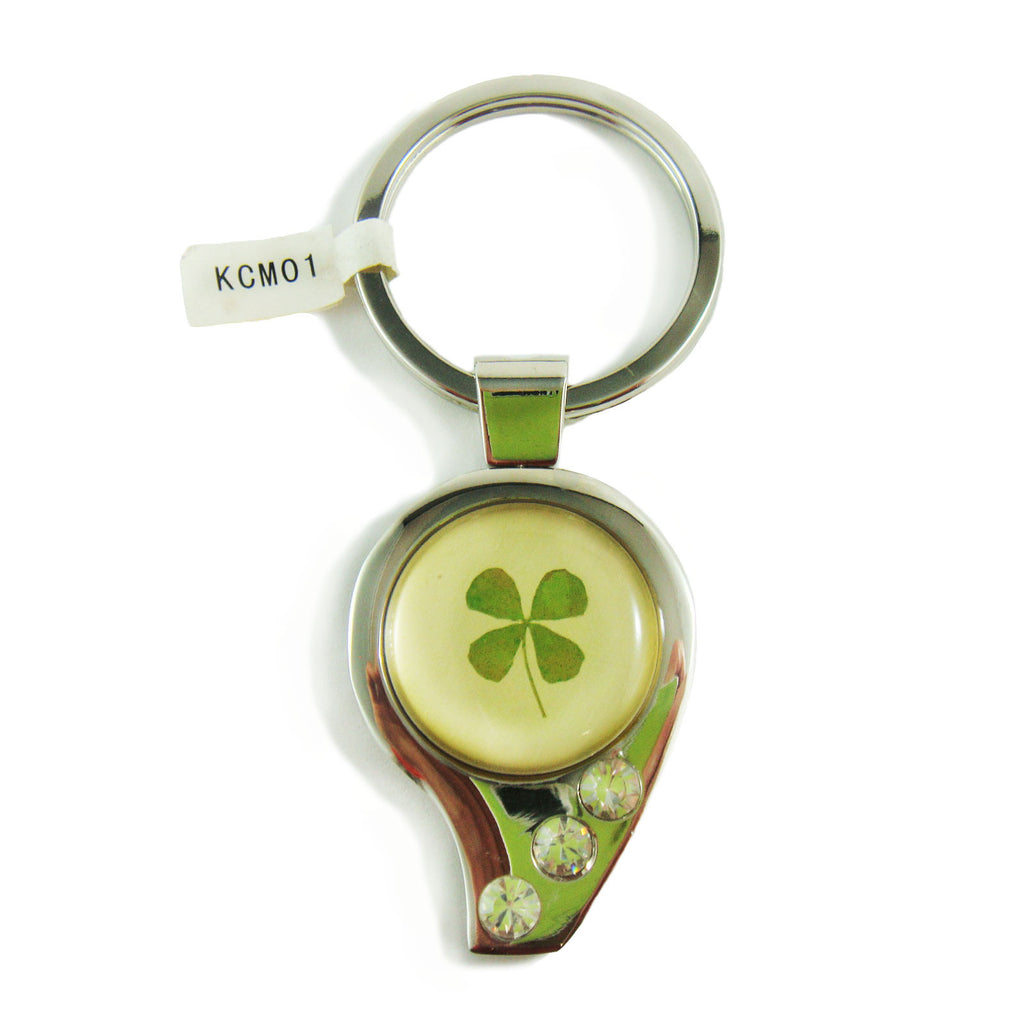 Real Lucky Clover Keychain Whistle Shaped (KCM01)