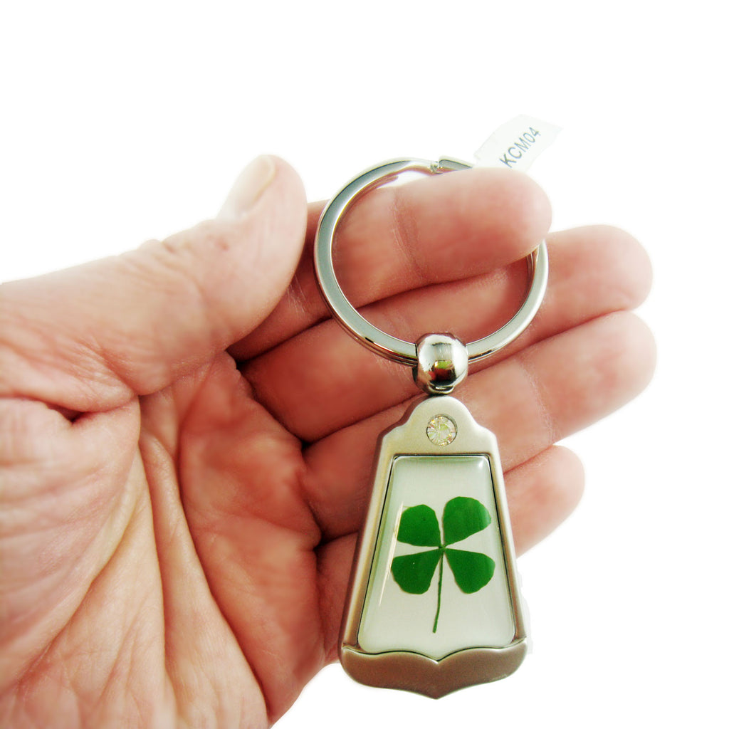 Real Lucky Clover Keychain Obtuse Shaped (KCM04)