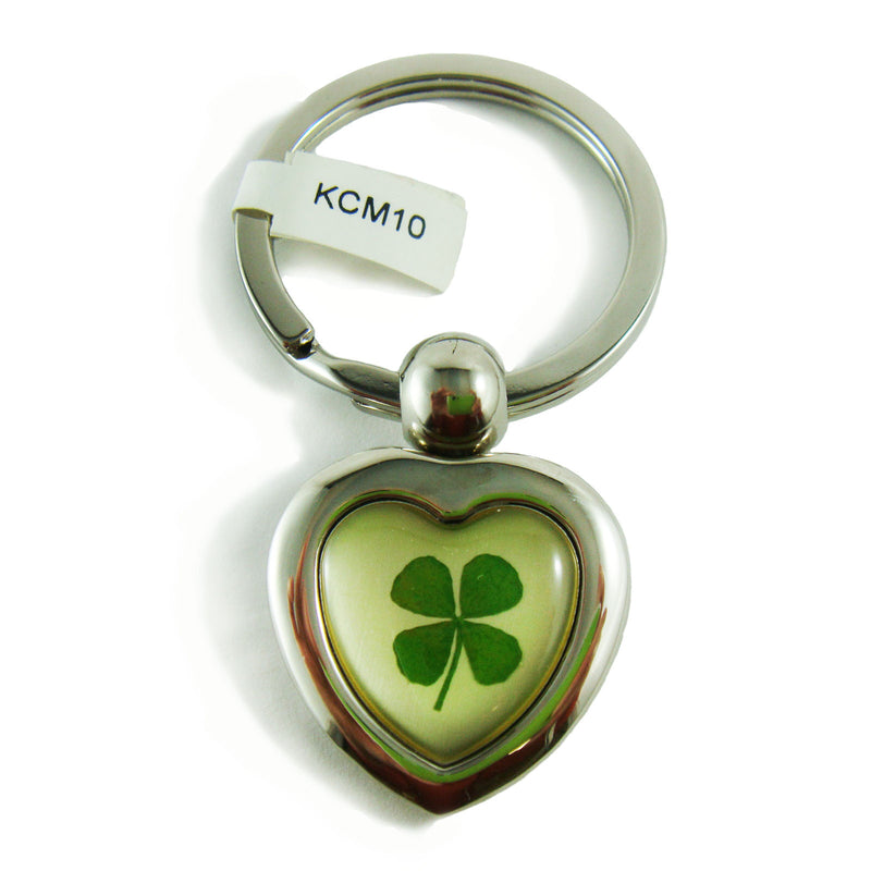 Real Lucky Clover Keychain Heart Shaped (KCM10)