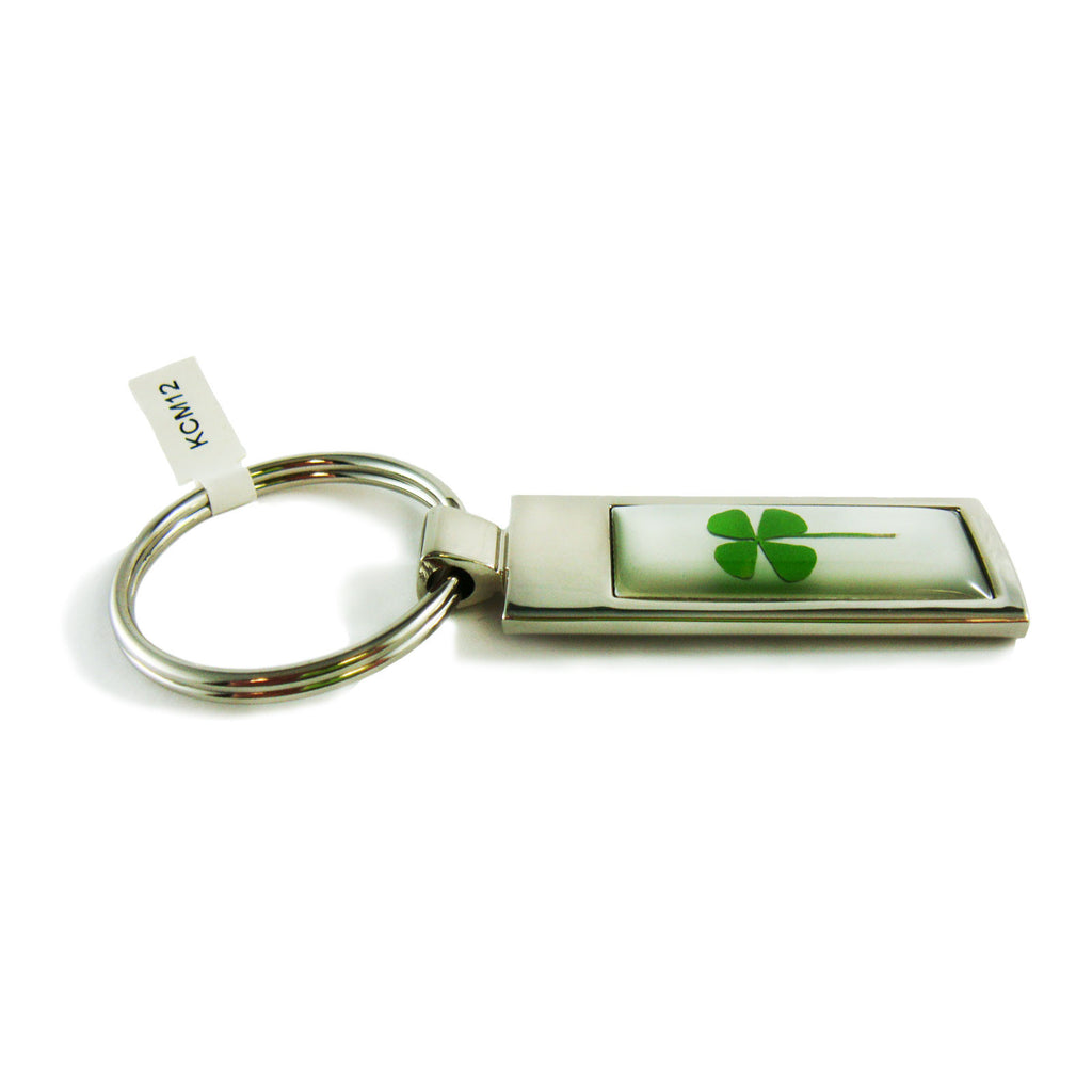 Real Lucky Clover Keychain Square Shaped (KCM13)