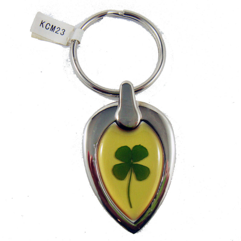 Real Lucky Clover Keychain Pear Shaped (KCM23)