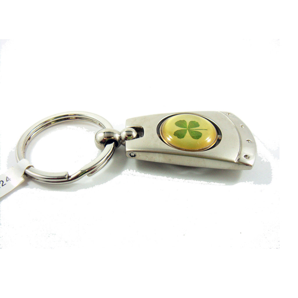 Real Lucky Clover Keychain Abstract Shaped (KCM24)