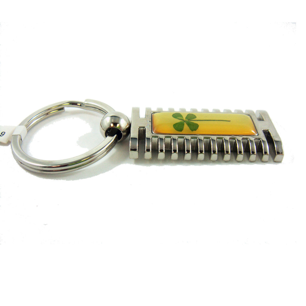 Real Lucky Clover Keychain Rectangle Shaped (KCM29)