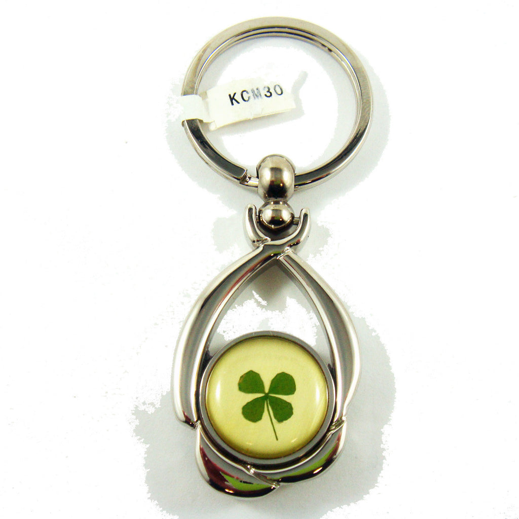 Real Lucky Clover Keychain Round Shaped (KCM30)