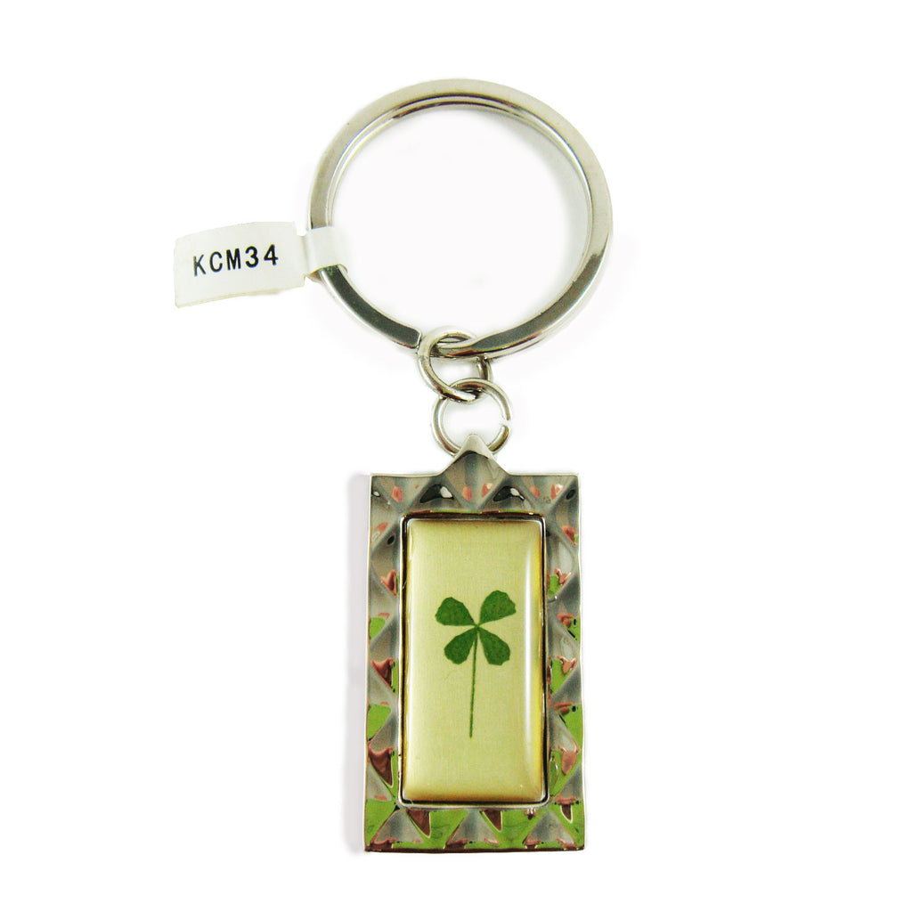 Real Lucky Clover Keychain Square Shaped (KCM34)