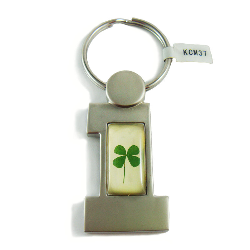 Real Lucky Clover Keychain #1(number one) Shaped (KCM37)