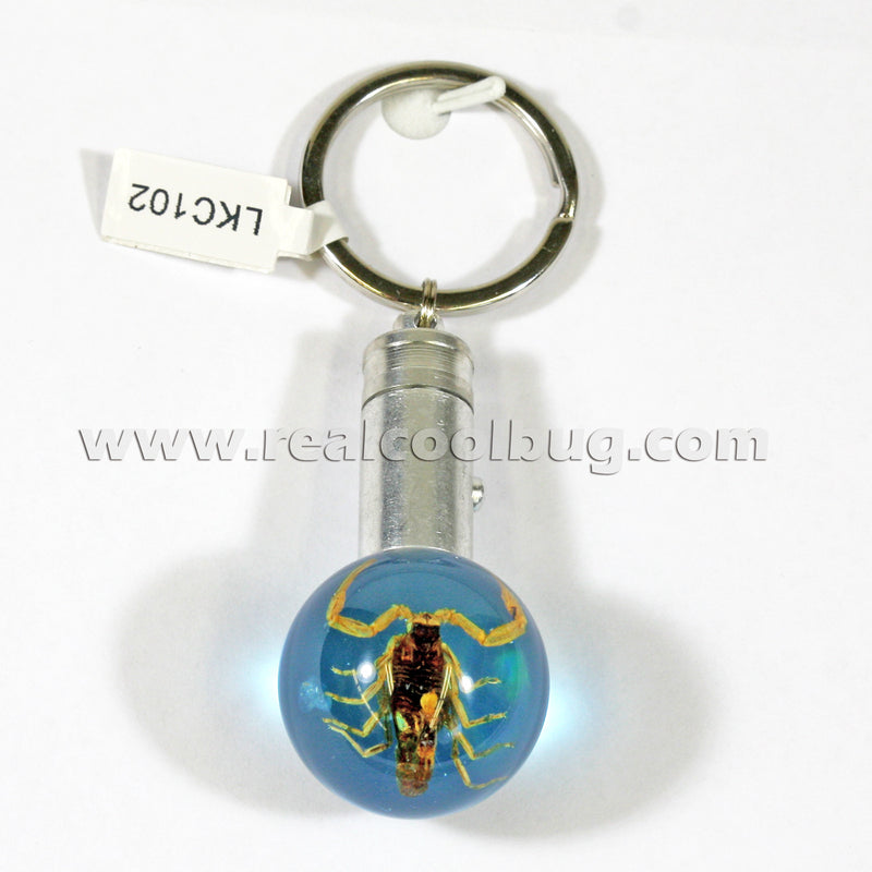 LKC102<br/>LED Key Chain - Golden Scorpion