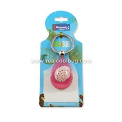 Spotted Moon Shell Keychain, Pink, Tear Drop (OK202)