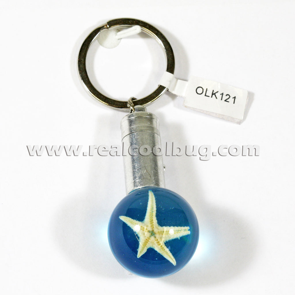 OLK121<br/>LED Key Chain - Starfish