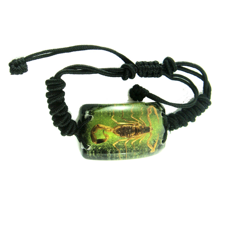 Golden Scorpion Bracelet Green & Black (SL154OLD)