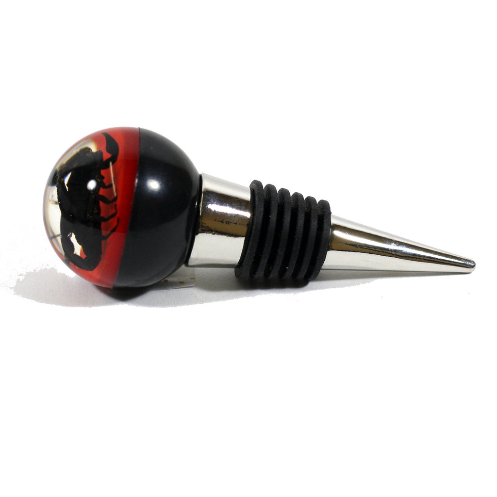 WS1401<br /> Black Scorpion Wine Stopper