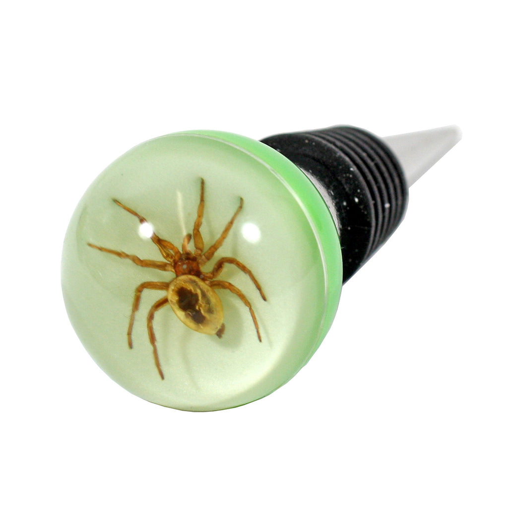 WS1406<br/>Spider Wine Stopper (glow in the dark)