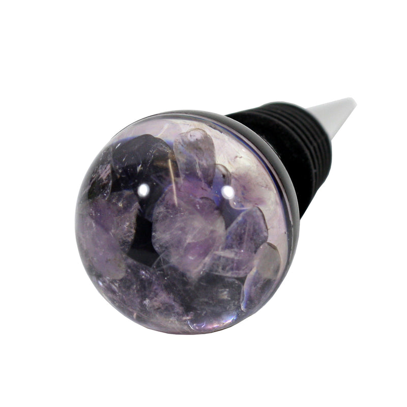 WS1413<br/>Amethyst Minerals Wine Stopper