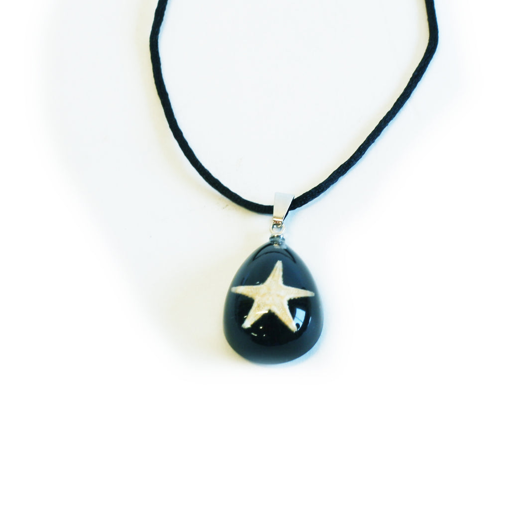 OPW102<br/>Starfish Necklace Tear Drop