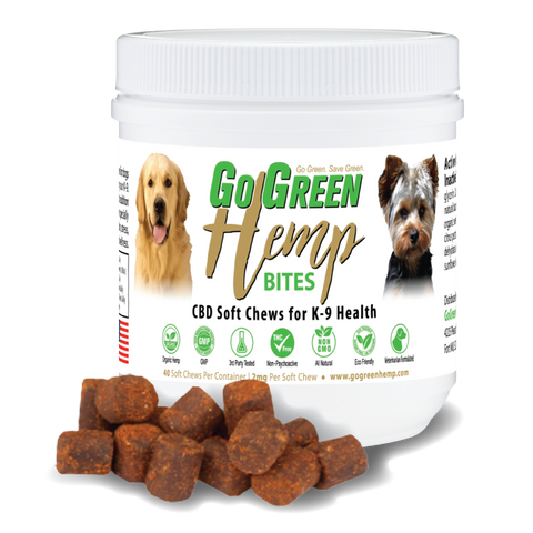 GoGreen CBD Dog Soft Chews - 80mg