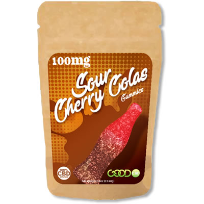 CBD Gummies - Sour Cherry Cola - 100mg