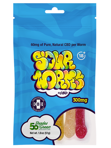 CBD Sour Worms - 300mg