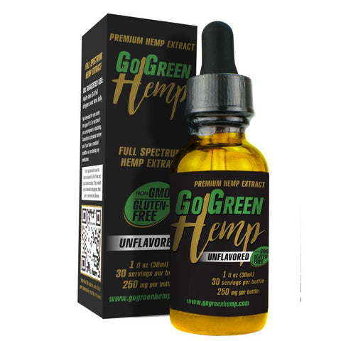 GoGreen Hemp Unflavored Oil Dropper