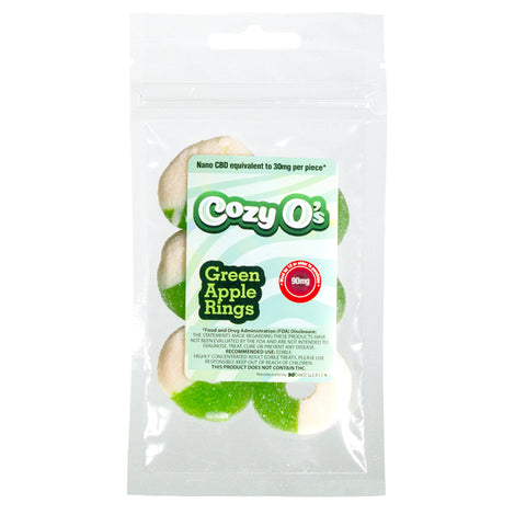 Cozy O's CBD Green Apple Gummies