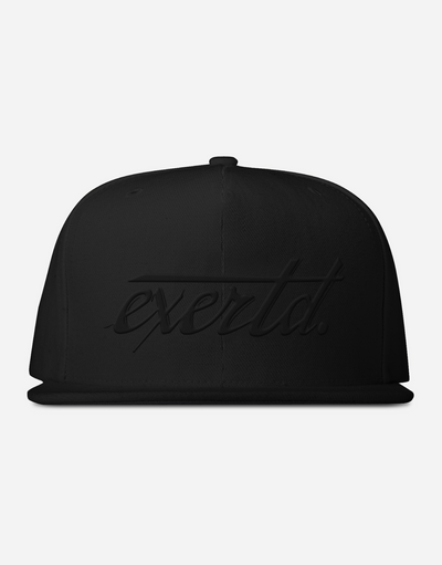 Black exertd Snapback