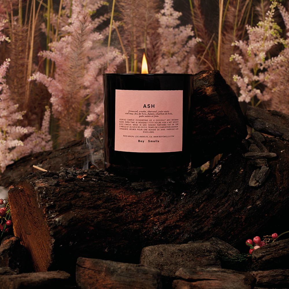 Ash Scented Candle | Scented candle with a modern smokey scent and a hint of juniper berry | Boy Smells | 5060541100077