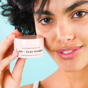 Soft Clay Rubber | exfoliating clay mask to unclog pores and smooth skin | Lixirskin | 5060541100077