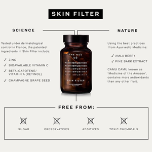 Skin Filter | A skincare supplement designed to improve pigmentation, breakouts and blurs impurities | The Nue Co. | 5060506360584