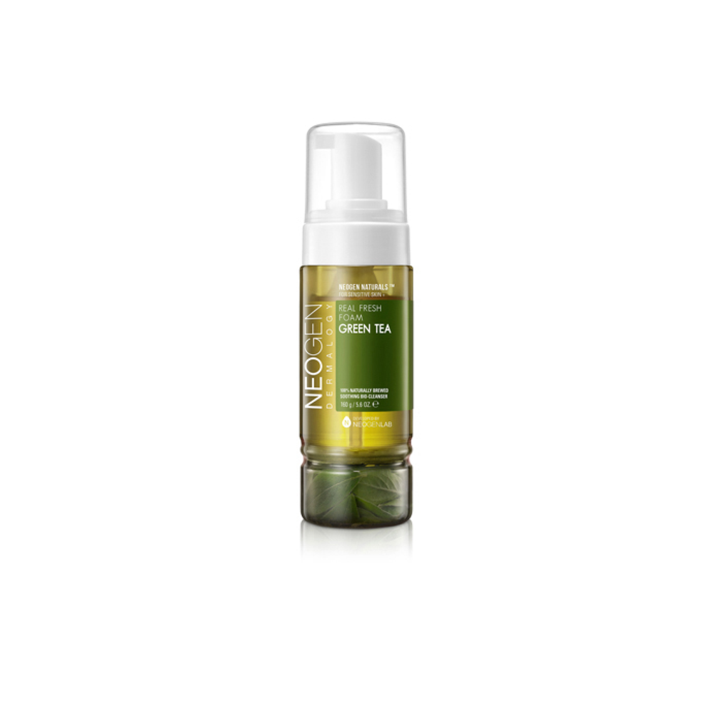Neogen Green Tea Real Fresh Foam Cleanser | A water cleanser perfect for step 2 in the double cleanse | Neogen | 8809381442483