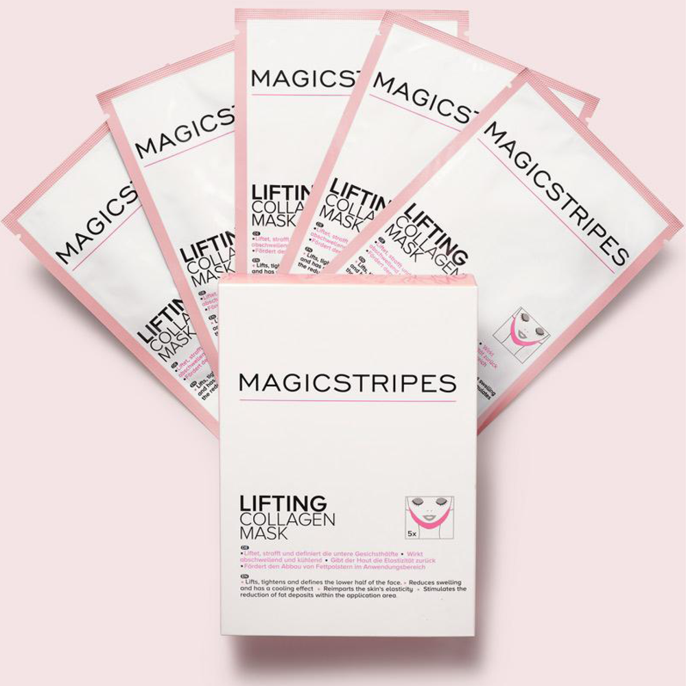 Lifting Collagen Mask | depuffing face mask for v-shape and sculpting jawline | Magicstripes | 4260393770010