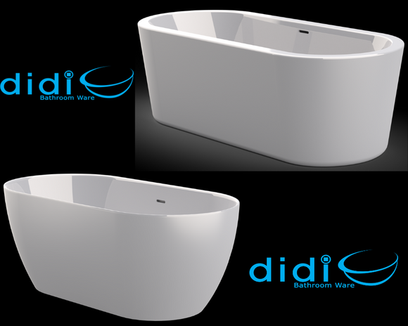 white freestanding bath available from Didi Bathroomware