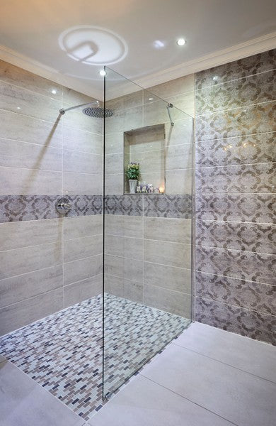 Walk in frameless shower screen enclosure with clear glass 1000*2000*8MM - Didi Bathroomware