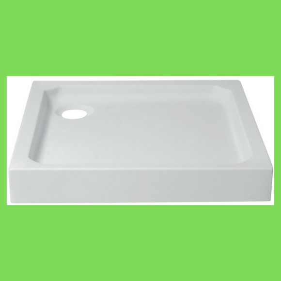 Shower tray square one piece 900mm x 900mm White STM14 - Didi Bathroomware