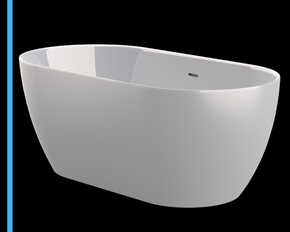Zala standalone | 1500 freestanding bath | small bathtub - Didi Bathroomware