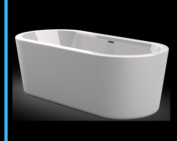 Samara Freestanding Bath | White 1700 freestanding bath | Bathtub - Didi Bathroomware