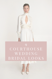 9 Courthouse Wedding Bridal Looks