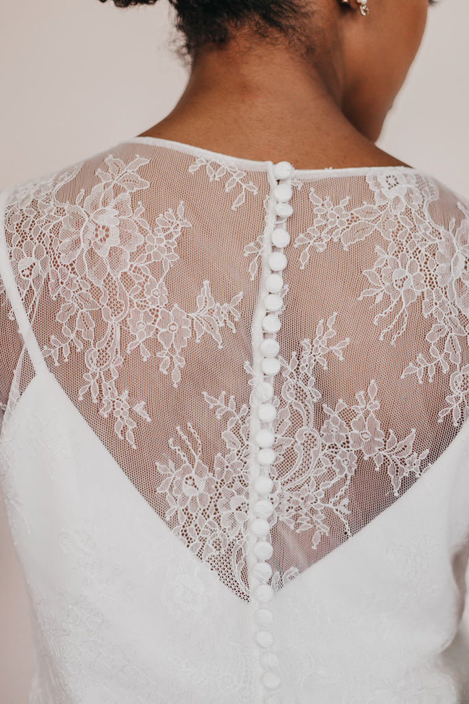 Lace long sleeve bridal bodice