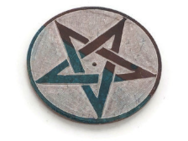Pentacle Altar tile - julys moon