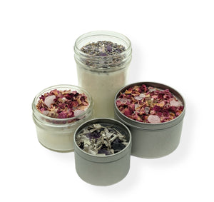 Hand poured soy herb & Crystal candles - Julys moon