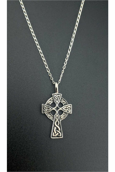 925 silver celtic cross necklace from julys moon