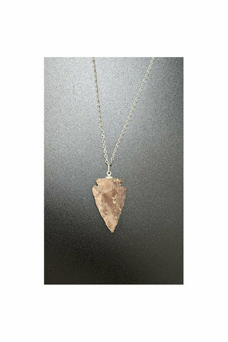 Fancy Jasper Arrowhead Necklace