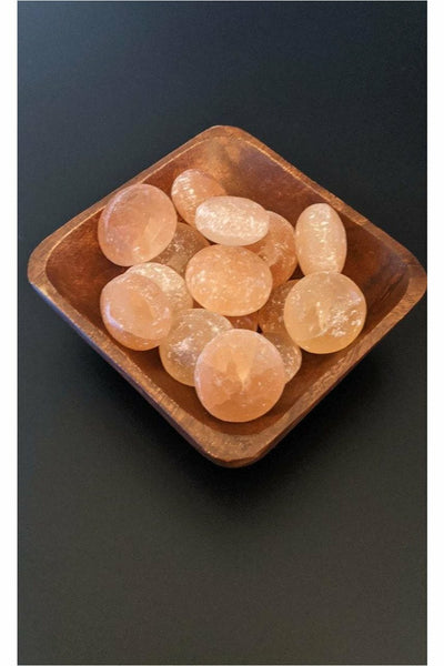 Orange selenite crystals - julys moon
