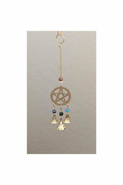 wind chimes with pentacle